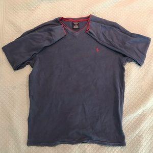 Polo long sleeve v-neck